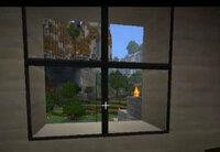 Minecraftについて質問です。テクスチャでガラスが黒い枠で囲まれるテクスチャを教えてください。