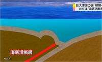 『巨大津波の謎と海底活断層』 10.04. NHK → 巨大津波は海底活断層との関わりがあることがわかってきた。 しかも南海トラフにはもっと多くの海底活断層がある。 歴史が示すように、巨大津波は再び襲ってく...
