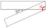 中学数学です>< 帯状の長方形をこのように折った時 Xを求めなさい
