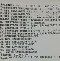EPSONのプリンターEP-805AWでの印刷が文字化けみたいになり、延々と印刷が続き、困っています EPSONのプリンターEP-805AWについて教えてください  私の家は上のプリンターを使っています、ですが一週間ほど前久...