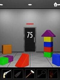 DOOORSのステージ75の攻略法を教えてください。 どこがヒントなの??