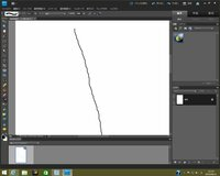 Photoshop Elements 9でイラストの滑らかで綺麗な輪郭線を 描く方法をご教授お願いします。 Photoshop Elements 9 にてイラストを描きたいのですが、 添付の画像の通り、ブラシを使って線を描くと、何度書き直しても、 カクカクとした線になってしまい非常に困っています。 イラストの滑らかな輪郭線を描く解決方法はございますでしょうか。  なにぶん、今まで...