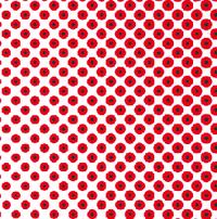 IllustratorCCのカラーハーフトーン機能についての質問です。 グラデーションをかけたオブジェクトを、赤一色でスクリーントーンのように表現したいのですが添付画像(拡大しています)のようにドットに黒がはい...