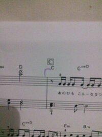 楽譜の読み方について四角で囲ってあって A B C D などのように書いてあるものはその順番で弾くということですか?