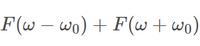 f(t)のフーリエ変換をF(ω)とすると、以下のような式の逆フーリエ変換を求めるにはどうしたらよいのでしょうか。 教えて下さい。よろしくお願いします。