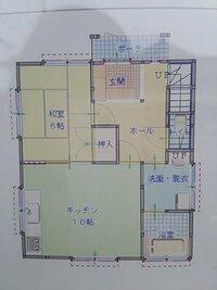 L字型LDKの石油ストーブ  対流式か反射式かで悩んでいます。  当方は真冬でも降雪が稀な西日本の温暖な地域です。 築14年木造一軒家。 10畳のキッチン+6畳の和室(画像参照)の引き戸を 普段は開け放って...
