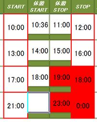 エクセルで時間表を制作しています。 セルF6<G6<H6<I6<F8<G8<H8<I8<F<10<G10<I10<F12<G12<H12<I12の順番で一つでも、セルの時間の順番が違っていたら、違ったセルを赤く塗りつぶしたいのですが。  F6は一番小さい時間<I12は一番大きな時間です。   条件付き、数式...