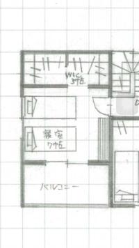 ウォークインクローゼットの間取り  現在家を建築するため間取りの打ち合わせを 行っています。 主寝室にウォークインクローゼットを設けるのですが使い方に不安があります。  写真のもの からWICも寝室も...