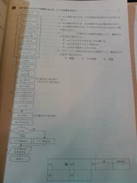 全商情報処理検定2級プログラミング部門の問題です。この問題解説がなく答えしかありません。わかる方すべての問題解説していただけませんか?どれか1つわかるというのでもかまいません。おねがいします。 答え (1)3回 (2)15 (3)su.3246 判定○ (4)ウ (5)イ