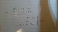連立方程式のルールについて質問です。 画像の場合、 B=7C+7D B=7C-7D  どちらになるのでしょうか?