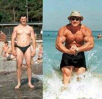 筋トレ、筋肉についての質問です。  日本人の平均的な体格で、 ナチュラルで鍛えた場合の最大の筋肉量(見た目)はどのくらいにまでなるでしょうか?  参考画像等ありましたら教えて下さい。 また、この写真(...