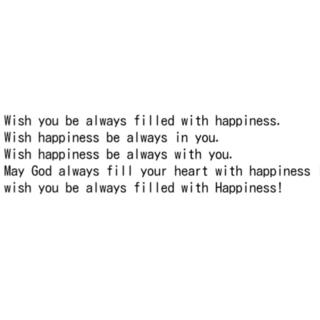 よう 英語 で が あなた に 幸せ あります