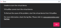 windows10を使用しています。 androidエミュレータのGenyMotionですが、  https://www.genymotion.com/download/  から、with VirtualBox: の方をダウンロード・インストールし、GenyMotionを起動後、バーチ...