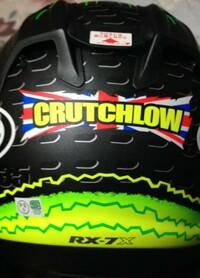 クラッチローのヘルメットrx7xを買ったのですが 35の番号が後ろに緑色で入ってるはずなんですが僕が買ったのには入ってないんです 近くのバイク用品店に普通のrx7xは売ってたんですがクラッチローのが ...