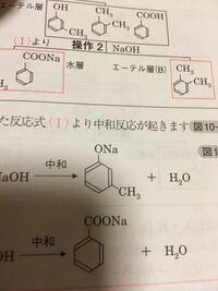 有機化合物 芳香族化合物の分離について m-クレゾールと水酸化ナトリウムの反応についてなのですが、m-クレゾールと水酸化ナトリウムの生成物の名前を教えてください。構造式は画像です。