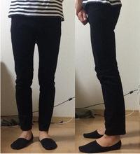 【ジーンズ】タイトなら足首が出てる長さでも普通ですか?  基本は地面にギリギリ付くぐらいの長さですが 下記の足首が完全に出てるぐらいの裾の短さでも タイトなジーンズなら様になりますかね? スニーカー履けばかかとにギリギリ付くぐらいでなくても 完全に足周りの皮膚が隠れて短過ぎるなんて感じにならない筈ですが 周り的にはどう思うのか教えて下さい。