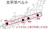 なぜ太平洋ベルトは画像のようにちょうど東京愛知大阪福岡が並んでいるところにあるんですか?