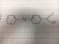 至急  フェニルボロン酸と4-ブロモ安息香酸に、酢酸パラジウムと炭酸カルシウムを加えて、4-ビフェニルカルボン酸を合成する。という実験を行いました。  その実験の課題で 「酢酸パラジウ ムを加えると生成する結晶はどのような化合物か。構造式を書いて説明せよ。」という課題が出ました。  質問なのですが、酢酸パラジウムを加えた際に生成する結晶というのは、最終生成物の4-ビフェニルカル...
