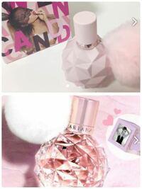 アリアナグランデの香水について質問です! 写真のどちらかを購入しようと思うのですが、どちらの匂いの方が良いですか???