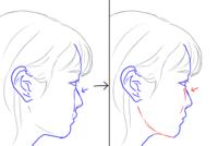 横顔がスパァン(?)となっている平面顔です。  頬のふっくらした顔に憧れています。 努力次第で画像左から右のようになることはできますか? やはり整形しないとどうにもなりませんでしょうか...  画像は実際...