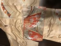 この帯は振袖用でしょうか? 画像の訪問着と合わせたいのですが、母親に、振袖用の帯なので止めるように言われ悩んでいます(T . T)