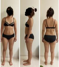 163センチ57キロあります。 短足、貧乳、デブと最悪です。 5キロダイエットを2ヶ月で達成するには何が1番いい方法でしょうか?  この体型をどう思いますか?