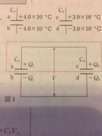 コンデンサーを接続し、電荷の移動が完了すると導線で結ばれた極板同士が等電位となるのはなぜですか? 基本的なところだと思いますが分からないので教えてください こんな感じの場合です