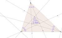 真ん中にできる三角形は正三角形でしょうか?