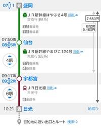 乗換案内アプリの料金の見方について教えてください。  右側に金額が二つ表示されていますが、無記名の方は運賃、指定席の方は特急料金と指定席料金の合算であっていますか?