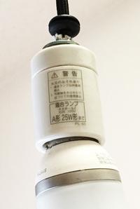 6畳洋間の裸電球『A型 25W型』とは? 新居に引っ越しました。6畳+ロフトの部屋があり,照明には天井から垂れ下がった裸電球があります。この電球を別のものに付け替えたいのですが,わからないことがあります。  電球のソケット部分には「適合ランプ ネオボールZ E26 100V A型 25W型まで」というシールが貼られています。(添付写真参照) 現在取り付けられている電球は東芝の「EFA2...