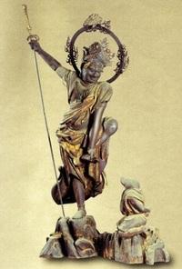 (`人´)【大喜利】- 仏像編 -   『烏蒭沙摩明王(うすさまみょうおう) 』立像 (瑞龍寺・県指定有形文化財)   [問題] 烏蒭沙摩明王が 『片足を持っている 理由』とは?