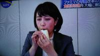 相内優香アナウンサーの食べっぷり、水卜ちゃんには負けますよねぇ。どうですか。