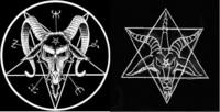 悪魔崇拝のシンボルと五芒星・六芒星について質問です。 グーグルで、『悪魔崇拝』と検索すると、そのシンボルとして「五芒星」を逆さまにしたシンボルが出てくるが、しかし、その中にはユダヤ教のシンボルである「六芒星」も含まれていたのですが、ここで質問です。 悪魔崇拝のシンボルとして、五芒星と六芒星、どちらが正しいのでしょうか?