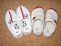 子供用の上履きを探しています。(幼稚園で使う上履きです)  添付画像の左側と同じ上履きですが、近所の東京靴流通センター・イオンに行ったものの扱いがありませんでした。 特徴はメッシュ製・赤色のライン・...