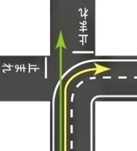 画像の道路形態で双方一時停止からの出会い頭事故の判例ありますか?(画像引用なので矢印は無視して下さい。) この場合左方優先は適用ですか?