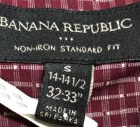 バナナ・リパブリックのメンズシャツなのですが、このサイズ表記はどのように読みとればよいのでしょうか? 日本のSMLだとどれくらいに相当するのでしょうか? インチにしてもどの部分なのか わかりません、ど...
