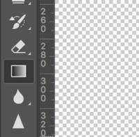 Photoshopで塗りつぶしをしようと思ったのですが、 なぜかグラデージョンツールしか使えなくなってしまいました。  どうすれば良いのでしょうか?  ちなみにMacです