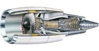 ジェットエンジンの始動時のタービンについて質問です。 『ジェットエンジン』とは、外部から取り込んだ空気を利用すること、および噴流(ジェット)を直接的に生成することをともに満たし、ジェットに起因する反...