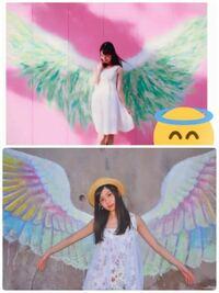 この二枚の写真に写っている天使の羽が描かれている場所ってどこかわかりますか?片方だけでもいいのでわかるから教えてください!