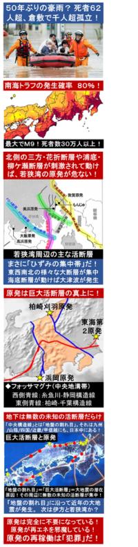 『50年ぶりの豪雨? 死者62人超、倉敷で千人超孤立!』2018/7/8  ⇒ 50年ぶりの大雨と土砂崩れとの事だが、広島では4年前にも起きた。 今後は、日本の各地で、大雨と土砂崩れが多発する? ⇒ 日本列島全...