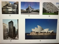 写真の、建築名と建築家名を教えてください。 国立代々木競技場と、シドニーのオペラハウスは既に分かっています。