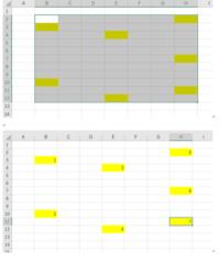 エクセルで色のついたセルに連番を入力する方法を教えてください。 選択した範囲で、縦方向に連番をつけたいです。 マクロを使ってできますか? よろしくお願いいたします。