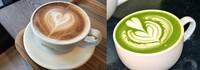 カフェラテと抹茶ラテ、 今の気分ならどちらが飲みたいですか?
