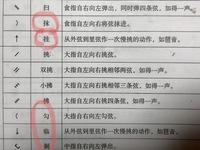 中国琵琶の記号について 中国語の和訳  中国琵琶を独学で学んでいるのですが、日本語のテキストなどが無く、翻訳サイトなどを活用しておりますが、なかなか意味を理解するのに難航しておりま す。  画像は中...