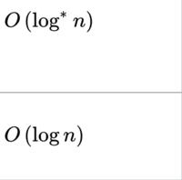 wikiの「ランダウの記号」というページの、「8.一般的なオーダー」という箇所に以下のような記号が書いてありました。上下の違いは何ですか?「*」の意味が不明です。教えてください。