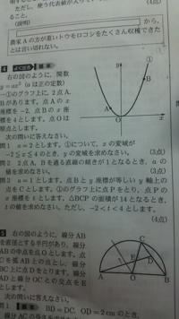 大門4の 問2のa の求め方を教えてください。 ほかの問題はわかりましたが、2は分かりません。 どのようにしてもとめるのでしょうか?途中式も込みでお願いいたします。