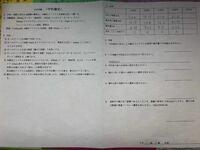 中和滴定の実験を行いました。右上の結果をもとに、右下の考察の解答を教えてください。