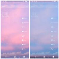 Androidスマホのホーム画面が 時々青いフィルターがかかった様になります。  画像は通常時のホーム画面と青くなった時のホーム画面です。   時間が経つと治っていたりするのですが 再起動しても治ったり、治らな...