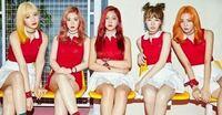 Red Velvetのメンバー、左から順に誰が誰か教えて欲しいですm(*_ _)m 最近EXO関係でレドベルにはまり、名前を覚えたいのでお願いします
