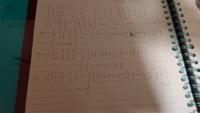 線形代数のクラメルの公式を使って連立一次方程式を解けという問題なのですが、xとyの値がどうしても合いません。なにか途中式が間違っているのでしょうか? x=1、y=-1/2、z=-3/2です